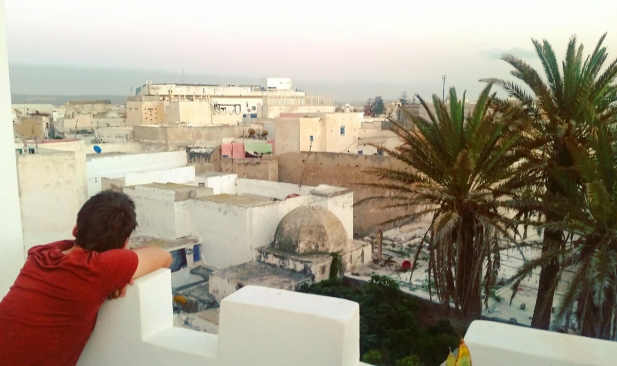 Essaouira with kidss - rooftops