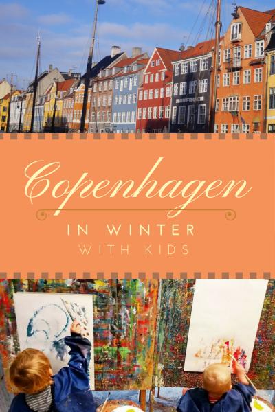 Travel Copenhagen, Denmark, in winter with kids