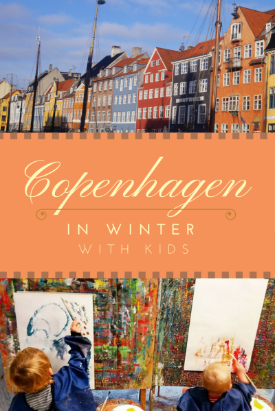 Travel Copenhagen, Denmark, in winter with kids