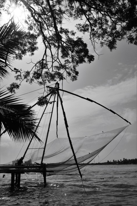 Chinese fishing nets , Fort Kochi
