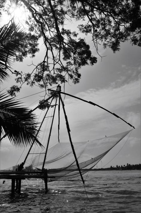 Chinese fishing nets , Fort Kochi