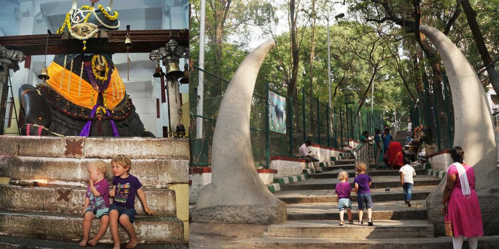 Big Bull Temple, Bangalore with kids
