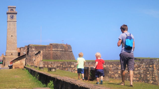 Galle Fort with kids