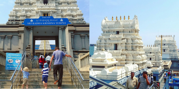 Iskcon Temple, Bangalore with kids