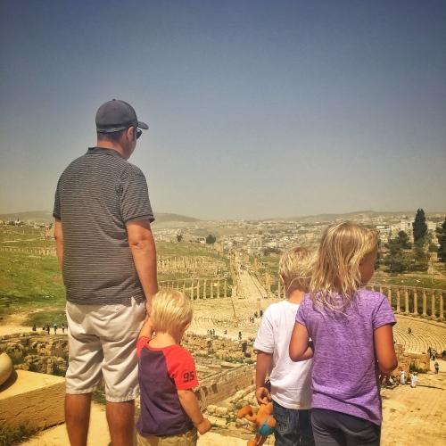 Jerash with kids