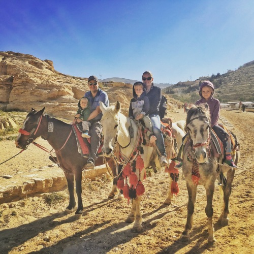 Horse-riding in Jordan with kids