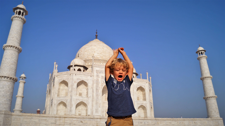 Nothern India itinerary with kids - Taj Mahal
