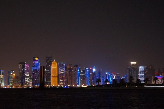 Doha stopover with kids - skyline