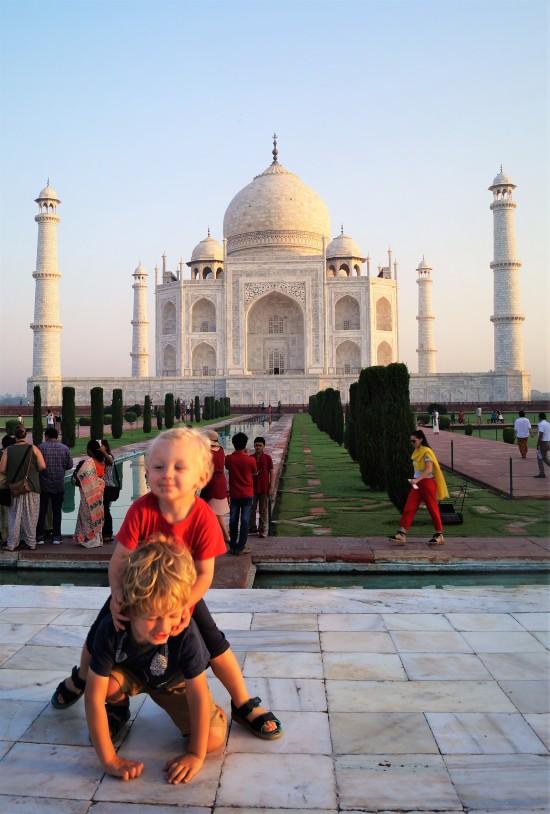 Visiting the Taj Mahal with kids