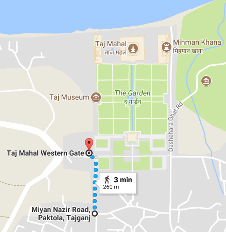 Visiting the Taj Mahal with kids - getting to the West Gate